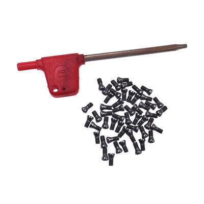 50pcs Insert Torx Screw Fits Carbide Inserts Lathe Tool M2.5 6mm Screwdriver