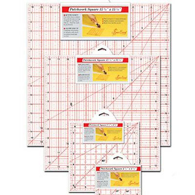 Sew Easy Patchwork Ruler Squares Different Sizes Available!