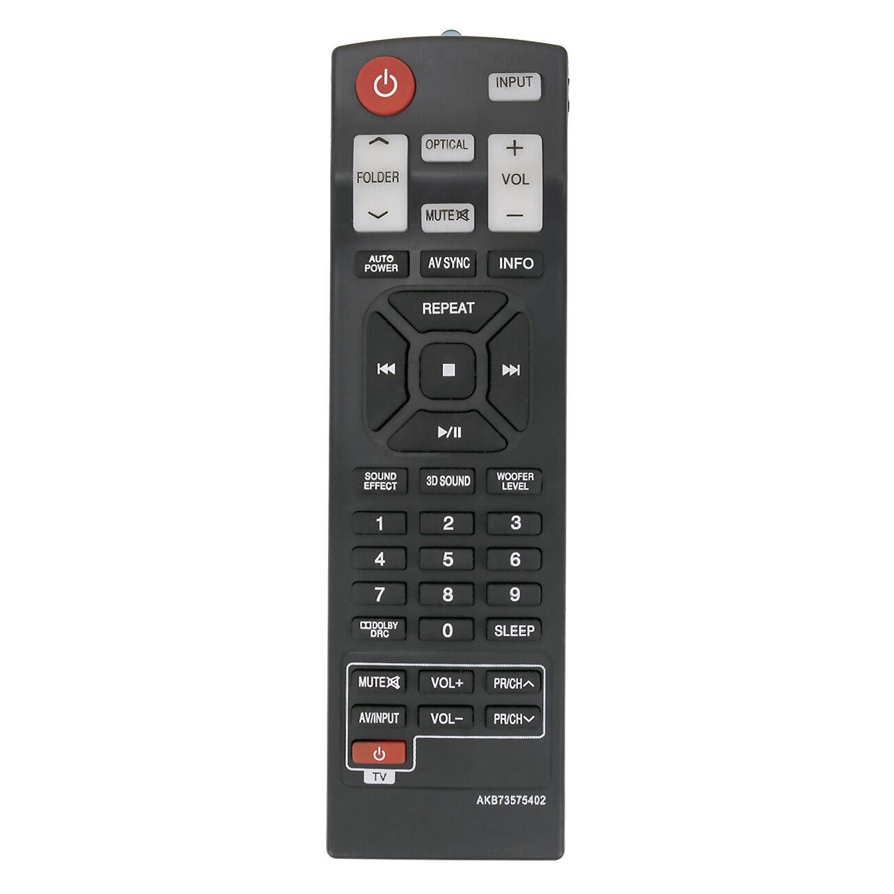 Nuevo control remoto AKB73575402 para LG Soundbar NB3730A NB3531A NB3530A
