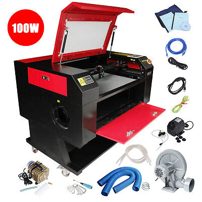 100w Co2 Laser Cutter Engraver Cutting Engraving Machine 700x500mm Usb Port