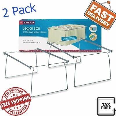 2 Pack Office File Folder Frame Hanging Legal Size Holder Drawer Cabinet Rack  - Hanging File Drawer