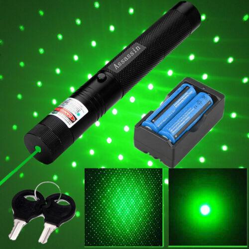 400Mile 303 Green Laser Pointer Pen 532nm Lazer Beam 18650 B