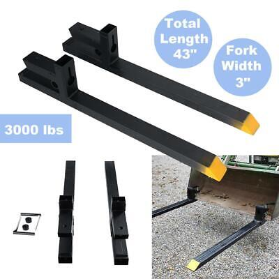 3000lbs Capacity Hd Clamp On Pallet Forks Loader Bucket Skidsteer Tractor Chain