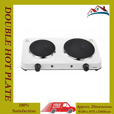 NEW 2500W ELECTRIC TWIN DUAL DOUBLE HOT PLATE TABLE TOP HOTPLATE PORTABLE