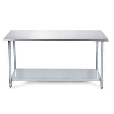 36 X 24 Heavy Duty Industrial Prep Stainless Steel Table W Adjustable Legs