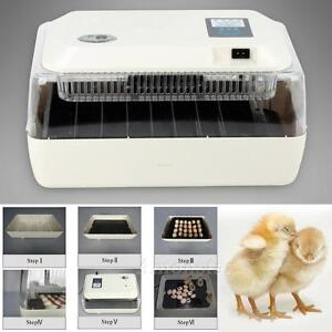 Digital Chicken Duck 24 Egg Incubator Fully Automatic Poultry Hatcher Supply
