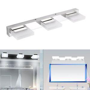 9W LED Spiegelleuchte Bilderleuchte Wandleuchte Acryl Weiß Badlampe Spiegellampe