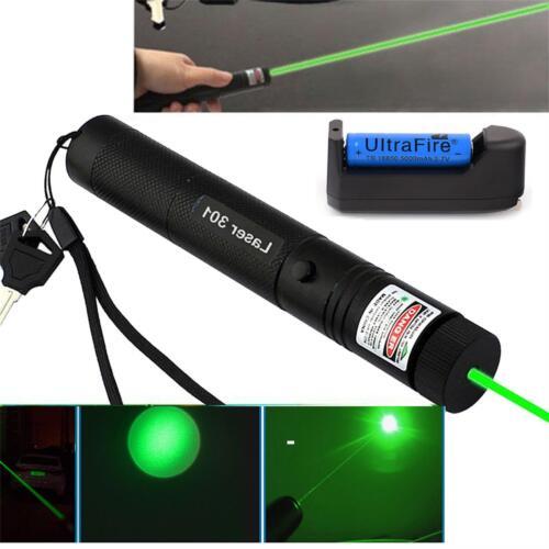 High Power 50Miles 532nm 1mw Green Laser Pointer Lazer Pen Visible Beam Light