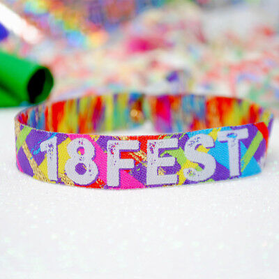 18th Birthday Party Festival Wristbands Favours -18FEST - party favours - 18th Birthday Favors