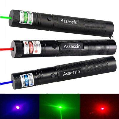 3PC 900Miles Green & Red & Blue Purple Laser Pointer Torch Lamp Lazer Focus/Zoom