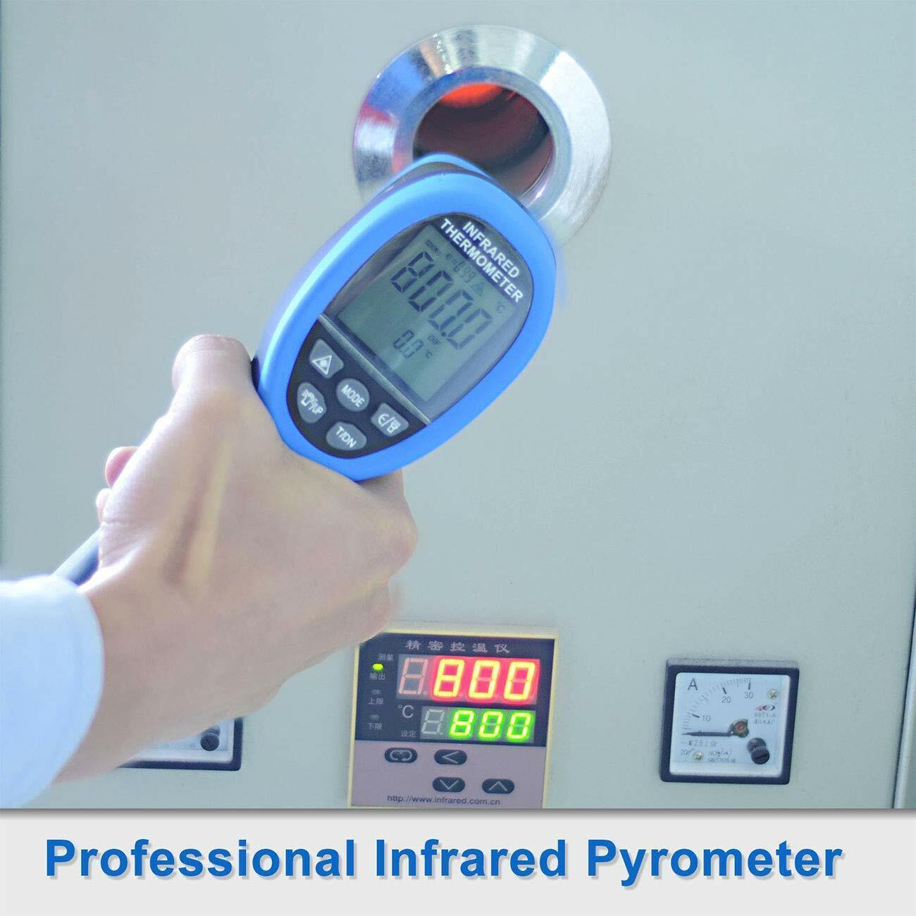 Laser IR Thermometer Infrarot Pyrometer Distanz 30:1 bis 1500°C BTMETER BT-1500