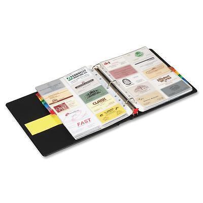 Tops Card File Binder Holds 400 Cards 1-12 Capacity Letter Bk 65320