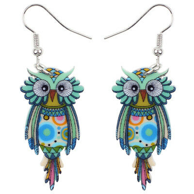 Acrylic Owl Bird Earrings Drop Dangle New Fashion Animal Jewelry For Women Gifts