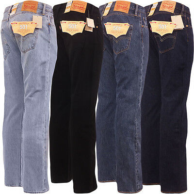 Levi 501 Jeans Mens Original Levi's Strauss Denim Straight Fit New All Sizes
