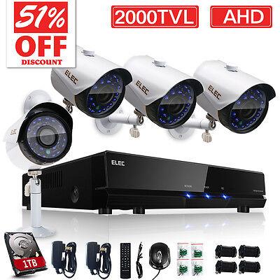 8CH 720P CCTV DVR 2000TVL Outdoor Home Security Camera System 1TB Night Video US