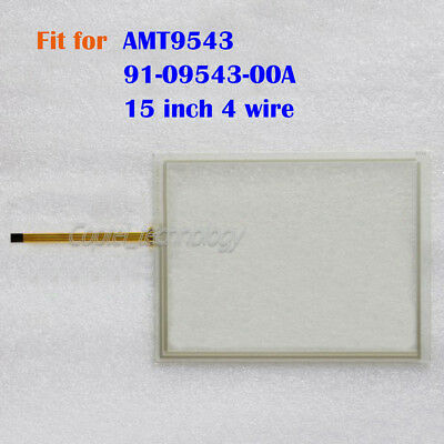 New Touch Screen Glass for AMT9543 AMT 9543 AMT-9543 91-09543-00A 15 inch 4 wire