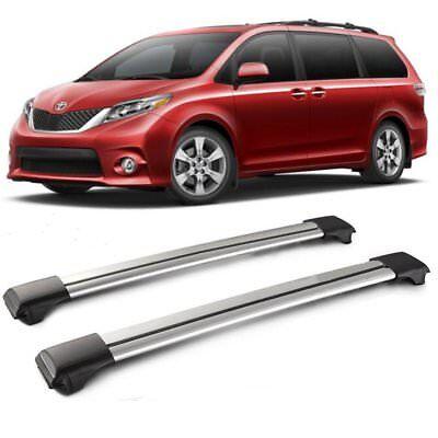 For 2011-2017 Toyota Sienna Adjustable Aluminum Car Roof Rack Cross Bar Carrier