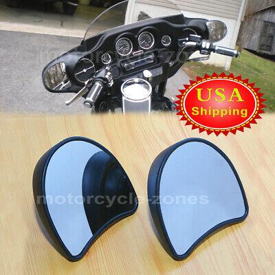 Black Fairing Mount Side Mirror For Harley FLHT Electra Street Glide Ultra 96-13 ()