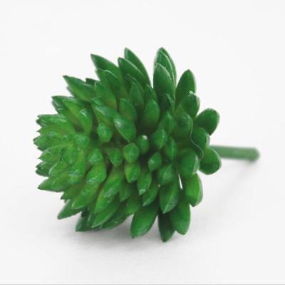 Green Lotus Artificial Succulent Plant Mini Faux Potted Plants Home Ornaments