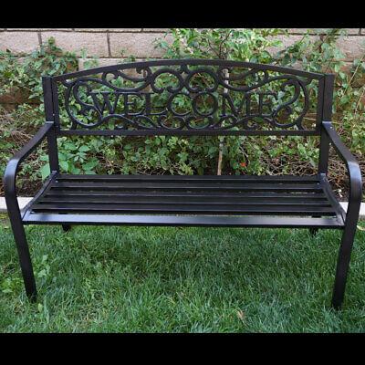 Garden Furniture - Outdoor Garden Bench Patio Furniture Deck Backyard Welcome Chair Love Seat NEW