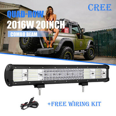 Land rover discovery 2 light barebay quad row 20inch 2016w cree led work light bar combo offroad 4wd driving ute 22 mozeypictures Image collections