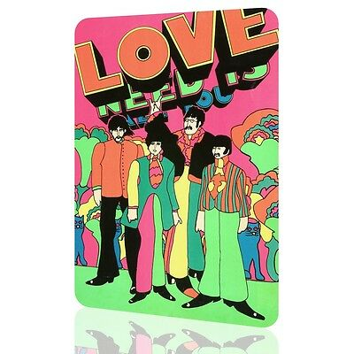 METAL SIGN PETER MAX The Beatles All You Need Is LOVE Amazing Collectors Wall Ar