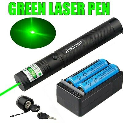 900 Miles 532nm Green Laser Pointer Zoom Beam Rechargeable Lazerbatterycharger