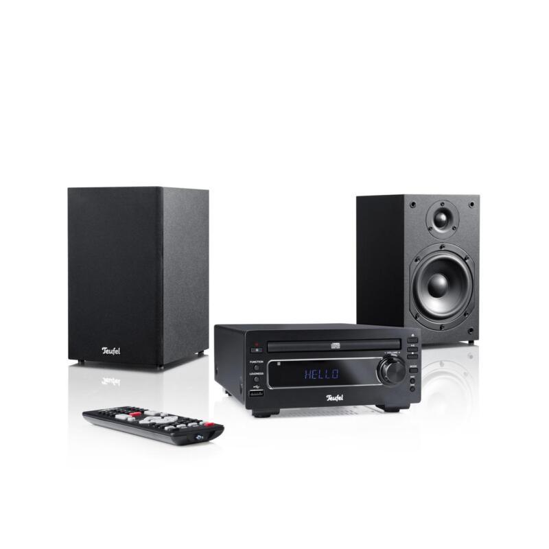 Teufel Kombo 22 Stereo Lautsprecher - Schwarz Speaker Musik Soundanlage  Bass