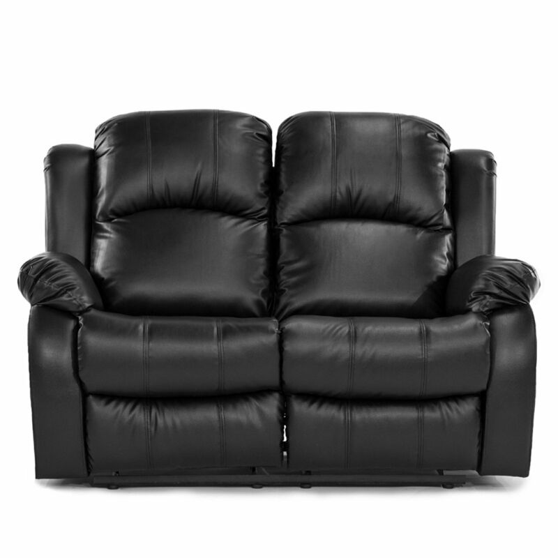 Recliner Couch Living Room Furniture Recliner Sofa PU Leather 2 Reclining Seats