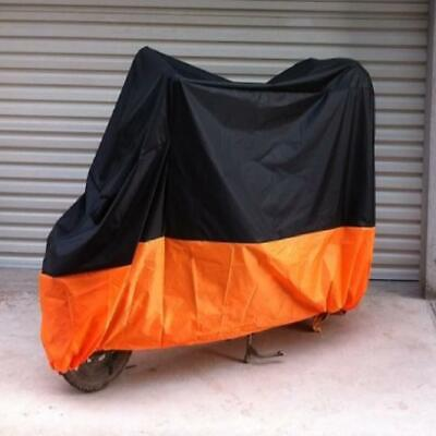 Large Waterproof Bike Motorcycle Cover For Vespa LX S LXV 50 150 Black/Orange