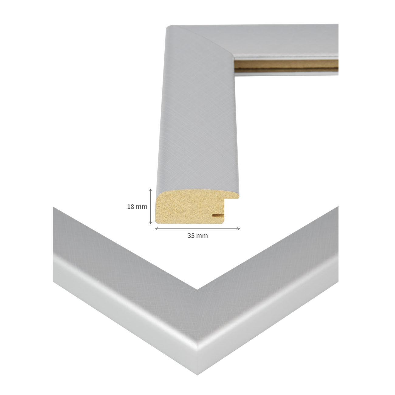 Bilderrahmen Holz Rahmen 50x70 50x75 DIN A1 A0 60x80 60x90 61x91 70x100 80x120 Alu gebürstet