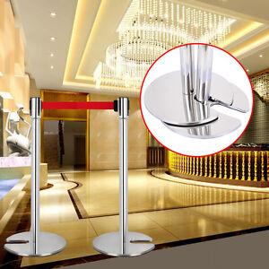 2x-U-shaped-Retrattile-Controllo-Folla-Barriera-Sistema-Barriera-Sicurezza