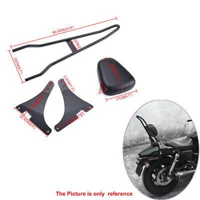 Detachable Sissy Bar Backrest Cushion Pad For Harley Davidson XL1200C/R/S XLH883