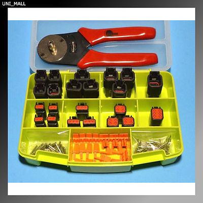 116 Pcs Deutsch Dtm Genuine Black Connector Starter Kit Crimper Made In Usa