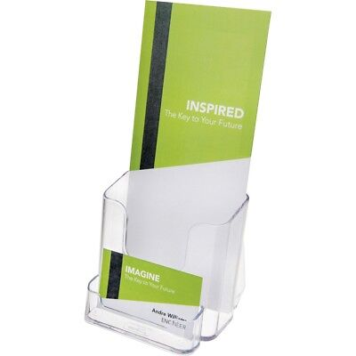 """Deflect-o Countertop Leaflet Holder With Business Card Holder - 7.75"""" X 4.37"""" X"""