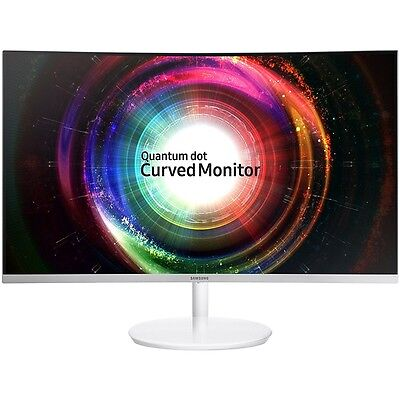 "Samsung C32H711 32"" WQHD 2K 2560 x 1440 FreeSync White Curve"