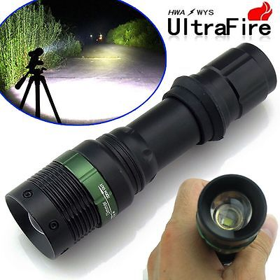 Ultrafire CREE XM-L T6 Tactical Zoomable 6000 Lumens 18650 LED Flashlight Torch