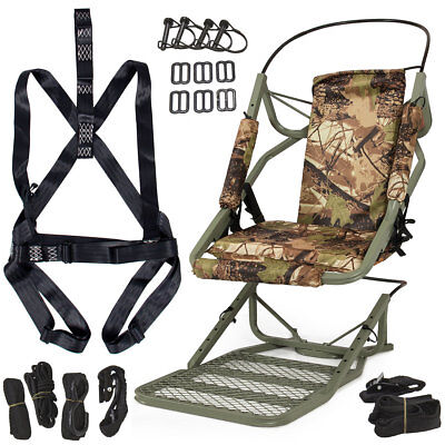 Portable Tree Stand Climber Climbing Hunting Deer Rifle Bow Game Hunt   Harness