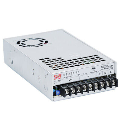Mean Well Se-450-12 Enclosed Switching Acdc Power Supply 450 W 12 V 37.5 A