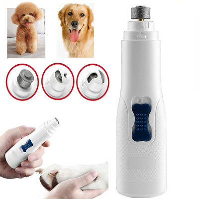 Dog Nail Grinder Clipper Trimmer Pets Cats Professional Grooming Tool Electric