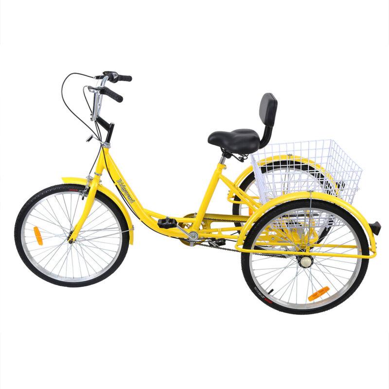 "3-Wheel 24"" Tricycle Trike W/"