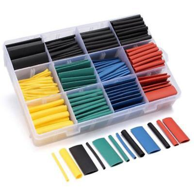 530pcs 21heat Shrink Tube Tubing Sleeving Wrap Wire Assorted Kit 5 Color 8 Size