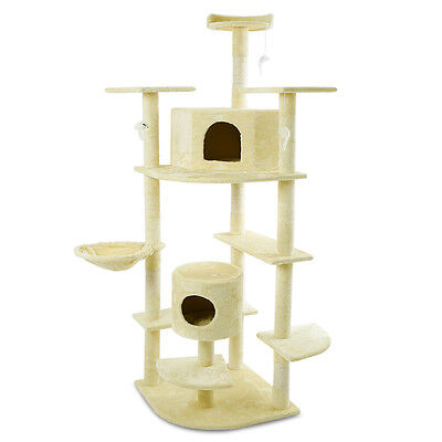 "Cat Tree 80"" Condo Furniture Scratching Post Pet Cat Kitten House High Quality"