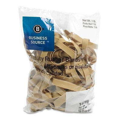 Business Source 15751 Rubber Bands Size 84 1 Lb Bag 3-12 X 12 Natural
