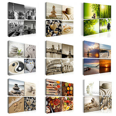 SPA KÜCHE NEW YORK REISE ZEN ARCHITEKTUR Wandbilder xxl Bilder Vlies Leinwand