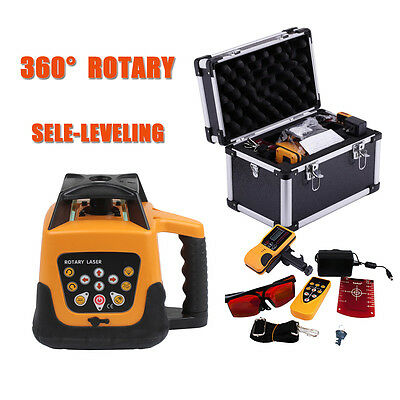 Automatic Self-leveling Rotary Rotating Red Laser Level Kit 500m Carrying Case