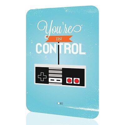 "Metal Sign Retro 80 Video Game Console ""You are in control"" Decor Home Wall Pub"