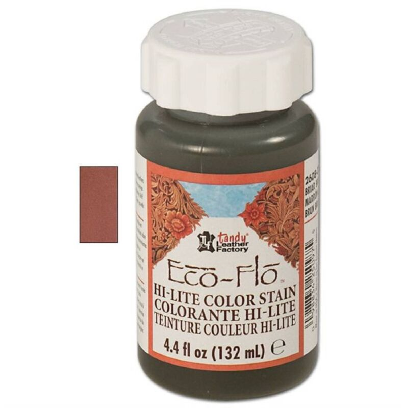Eco-Flo Hi-Lite Briar Brown Stain 4oz. 2608-03 by Tandy Leather