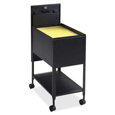 Black Metal Letter File Cabinet Rolling Storage Mobile Cart Organizer Filing