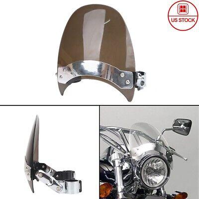 Small Windscreen Windshield For Harley Dyna Softail Honda Suzuki Kawasaki Yamaha
